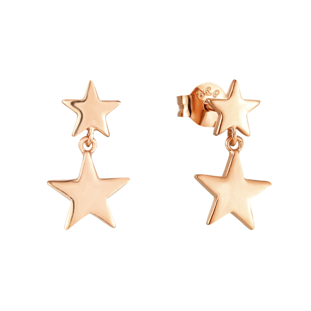 rose gold star earrings - seolgold