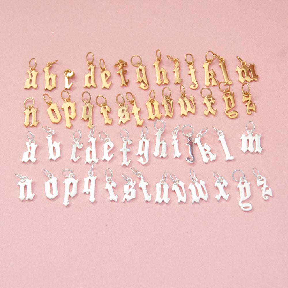 Alphabet Letter Charms - seol-gold