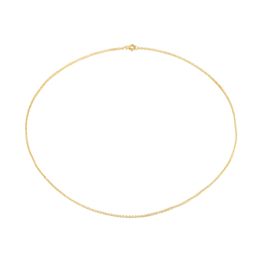 plain gold chain - seolgold