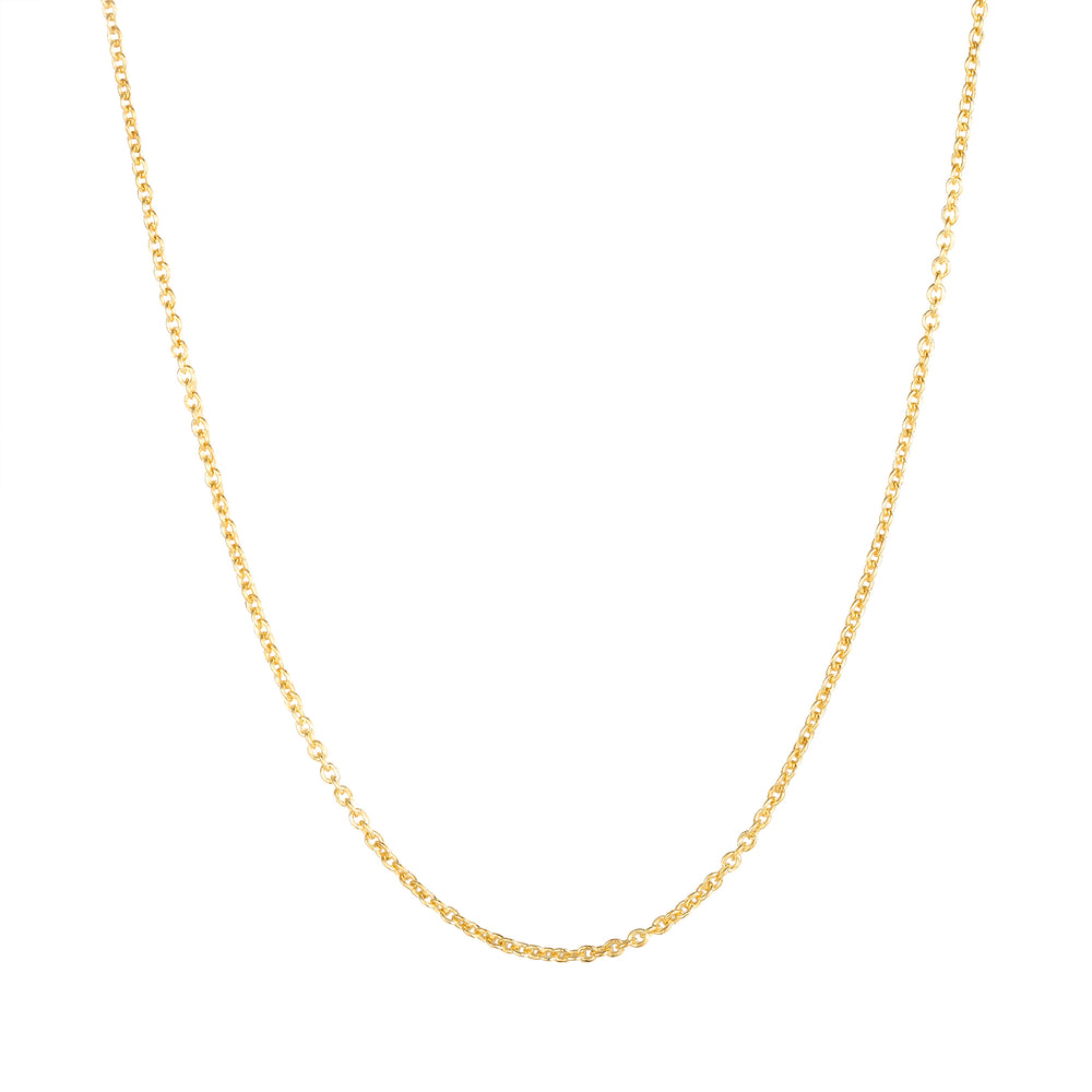 "9ct Gold 16"" Plain Chain"