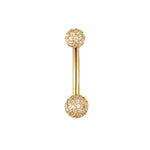 9ct gold belly bar - seol-gold
