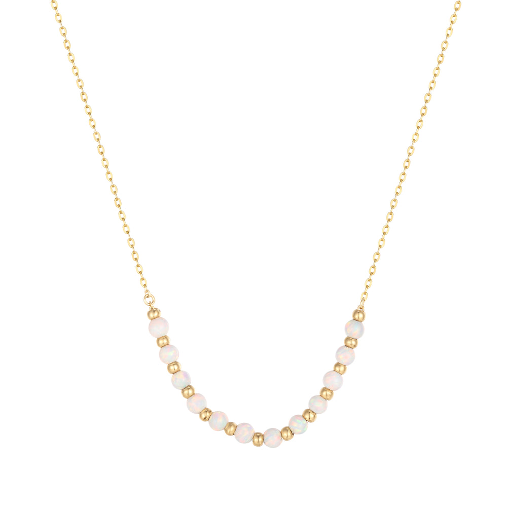 gold bead necklace - seol-gold
