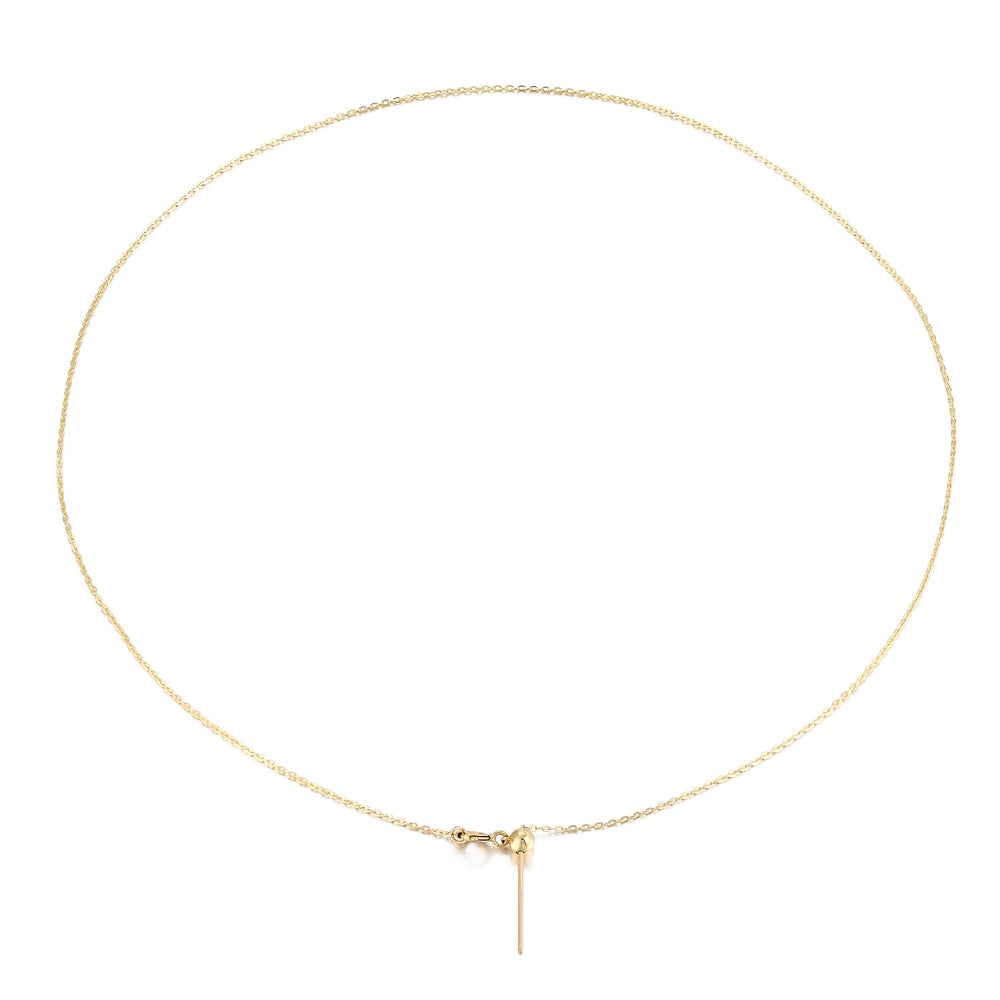 9ct Gold Adjustable Chain Necklace - seol-gold