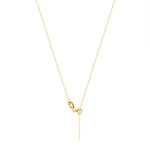 9ct Gold Adjustable Chain Necklace