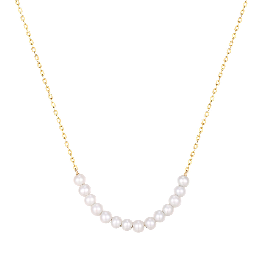 gold pearl necklace - seol-gold