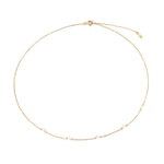 gold pearl necklace - seolgold