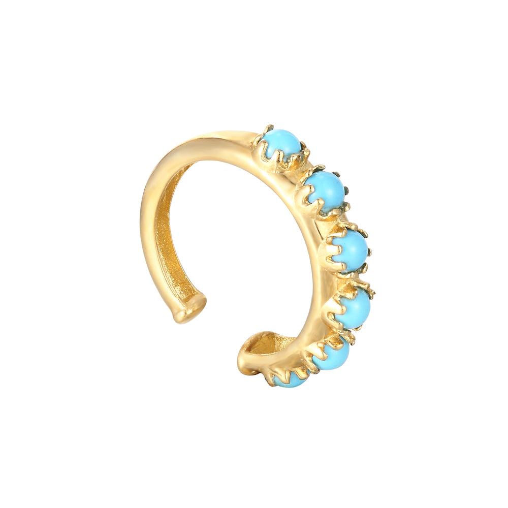 9ct Gold Turquoise Cuff Earring