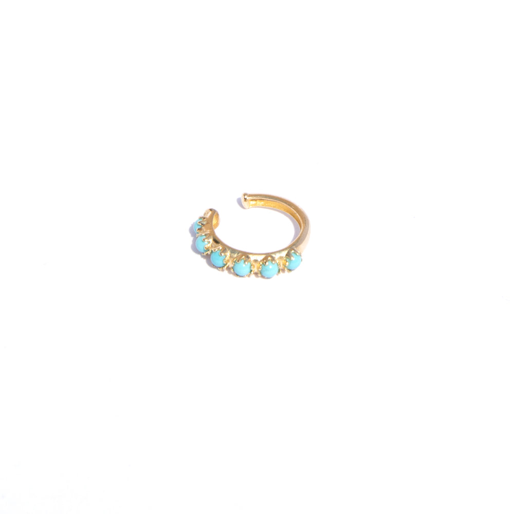 9ct gold Turquoise cuff earring - seol-gold