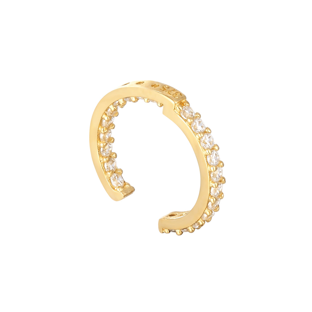 9ct Gold CZ Cuff Earring