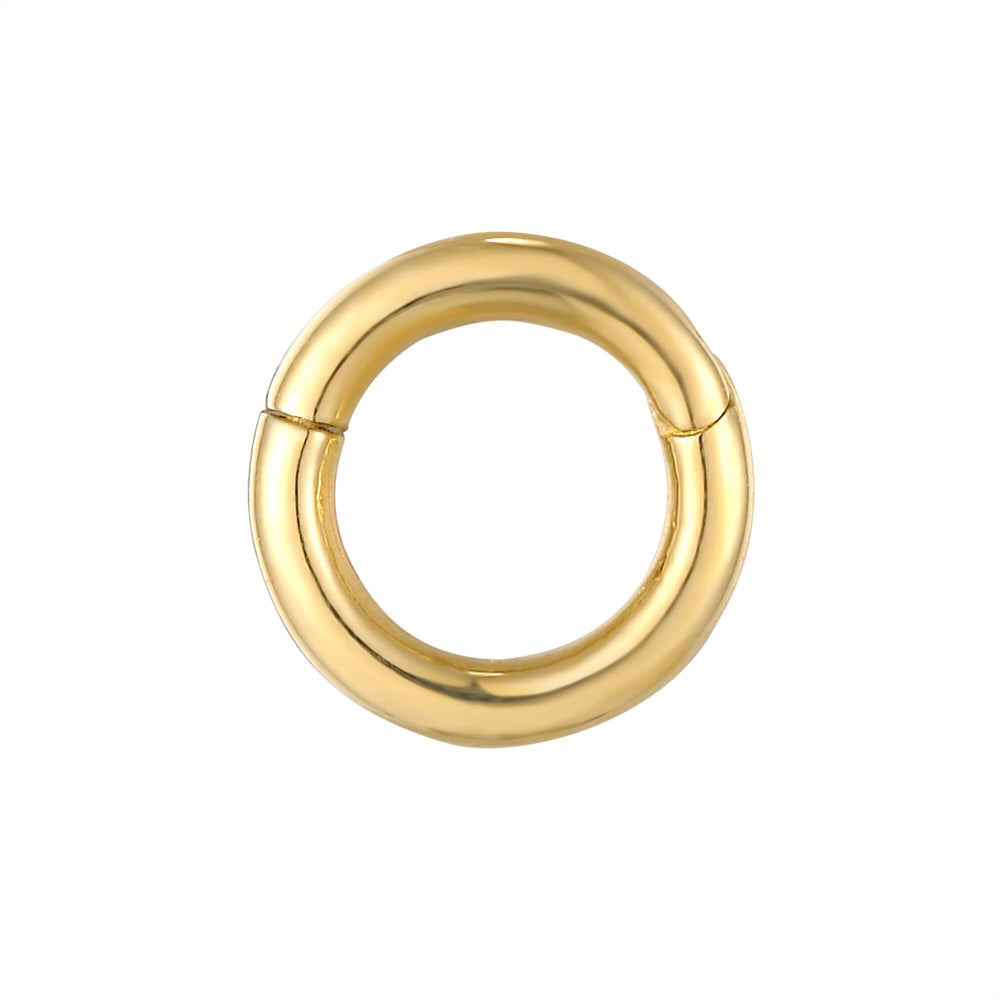 9ct Gold Tiny Segment Clicker Hoop