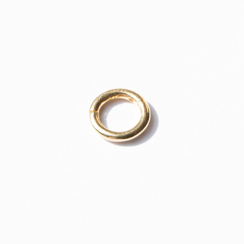 9ct gold tiny segment ring clicker hoop - seol-gold