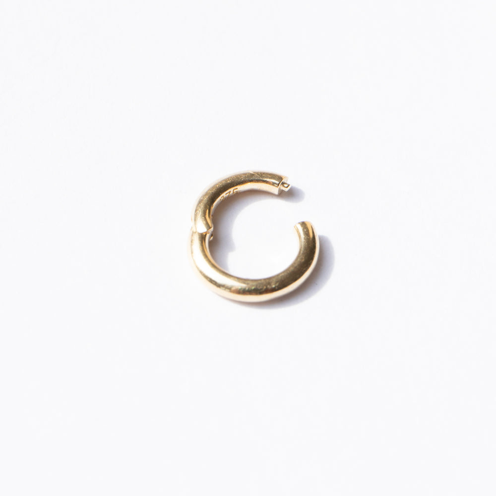 9ct gold tiny segment ring clicker hoop