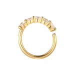 gold top ear hoop - seol-gold