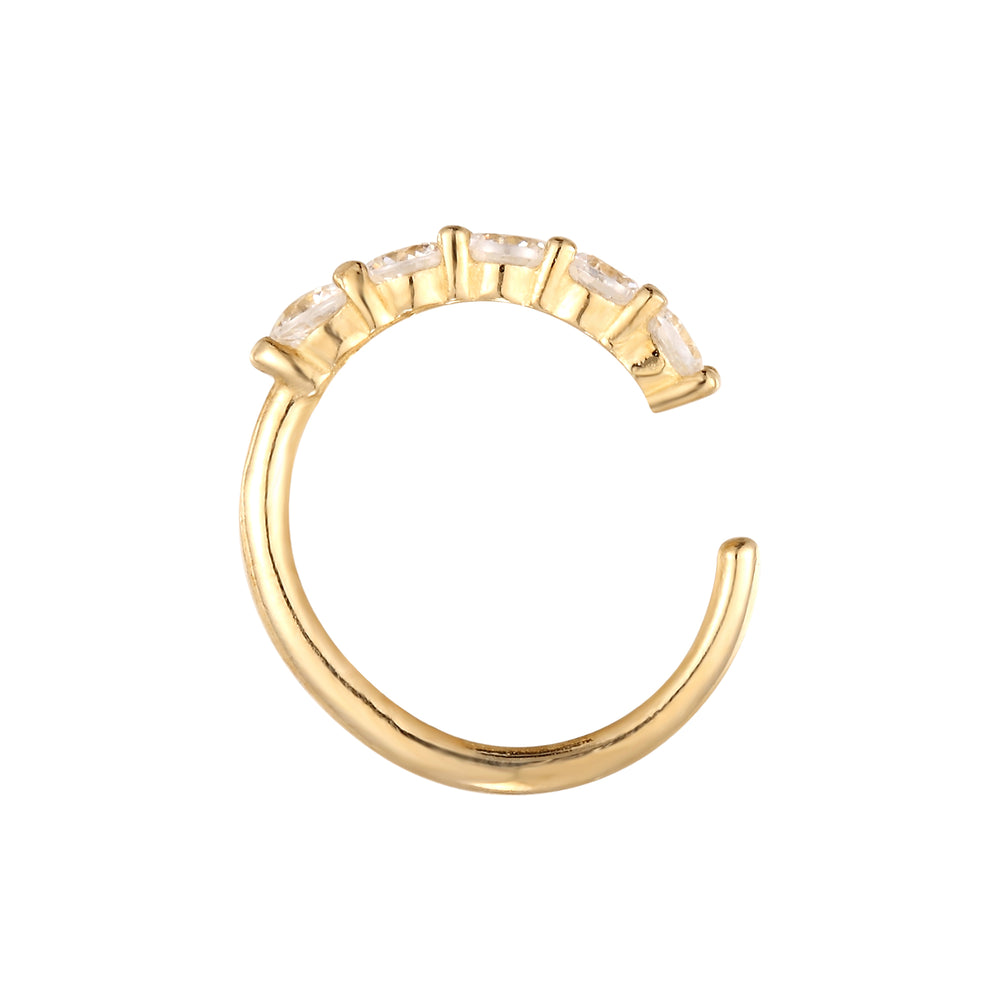 gold cartilage hoop - seol-gold