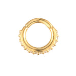 9ct Gold CZ Segmented Hoop - seol-gold