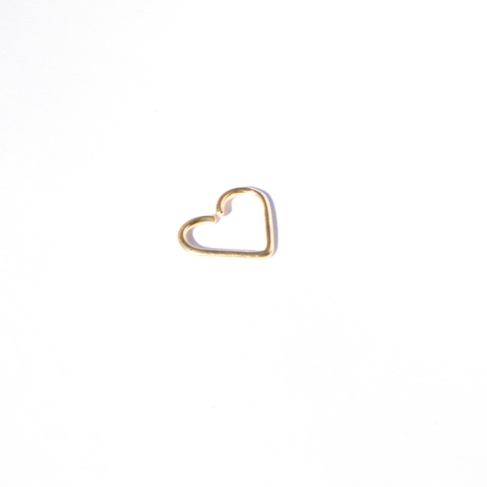 9ct Gold Heart Wire Hoop
