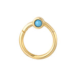 9ct clicker hoop - seol gold