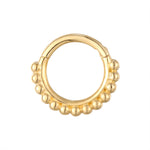 9ct Dotted Clicker Hoop