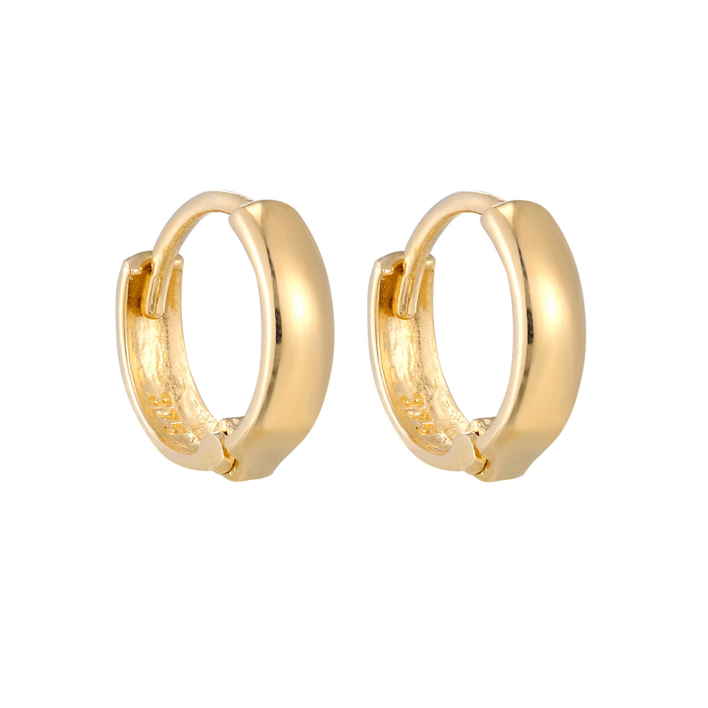 9ct Yellow Gold Tiny Huggie Hoops