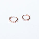 9ct Gold CZ Huggie Hoops - seol-gold