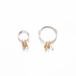 9ct Gold Disc Charm Hoops - seol-gold