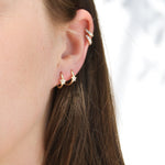 9ct Gold CZ Hoops - seol-gold