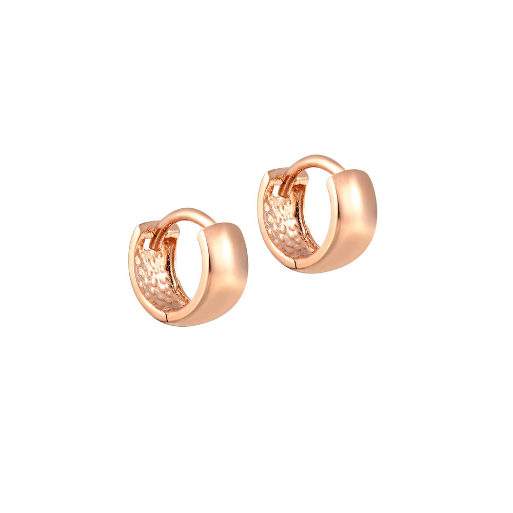 tiny rose gold hoops - seolgold