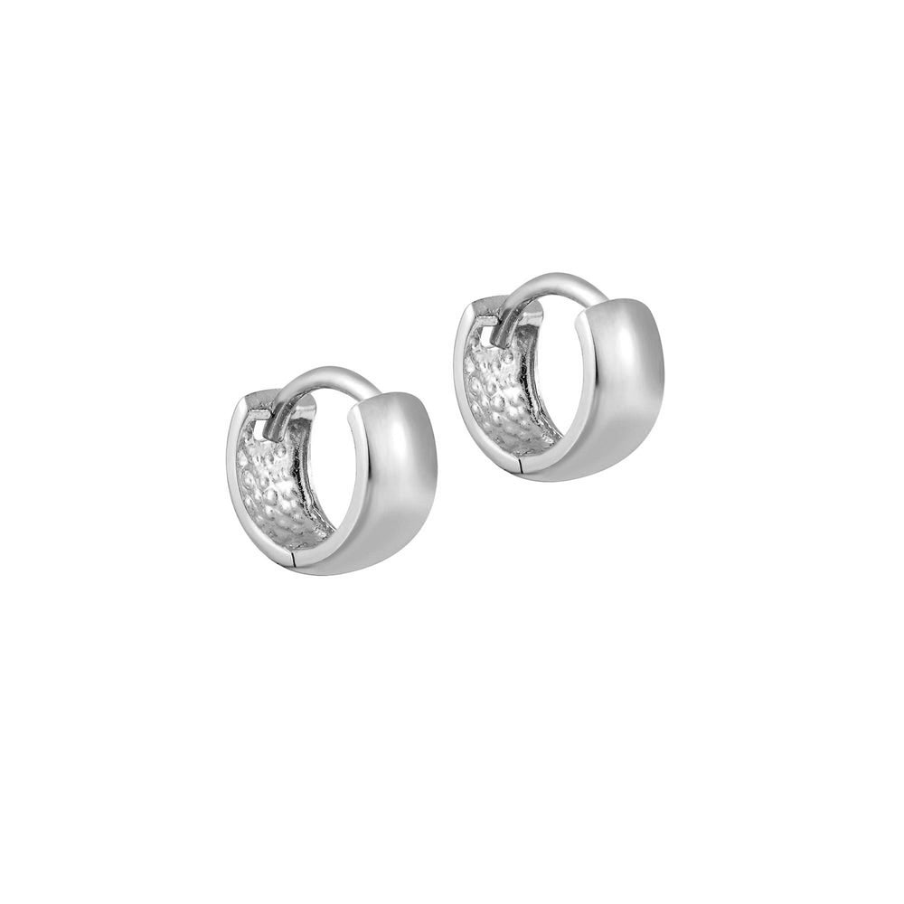 tiny white gold hoops - seolgold