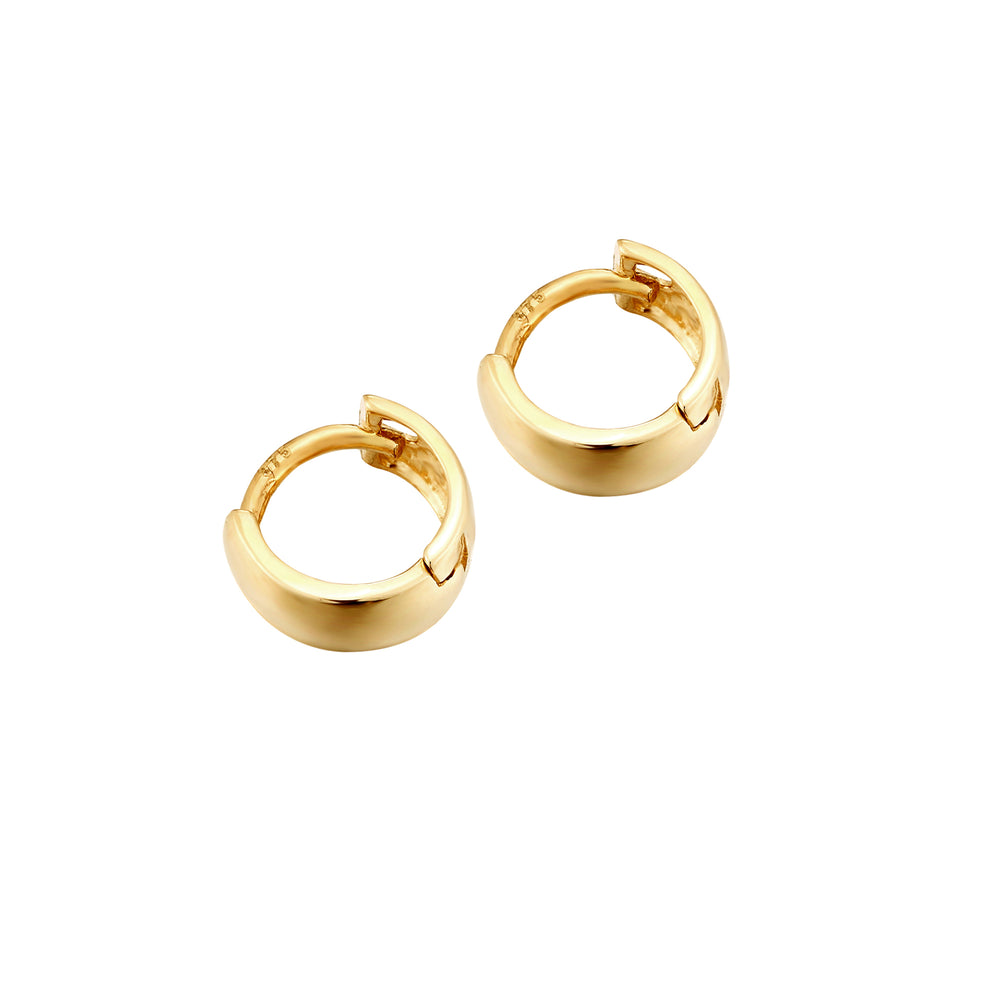 Tiny gold hoops - seolgold