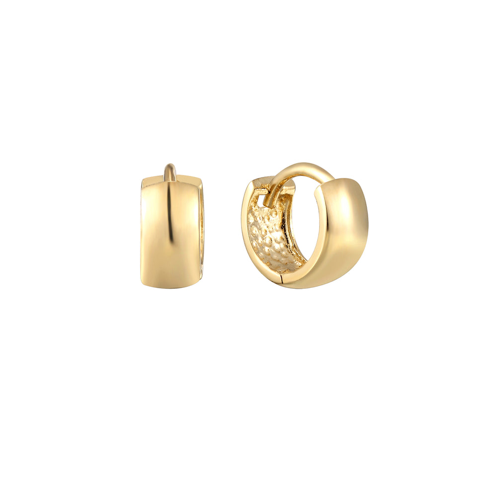 9ct Gold Tiny cartilage hoops - seol-gold