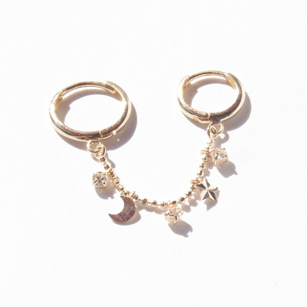 gold hoops - seol-gold