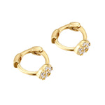 tiny pave hoops - seolgold