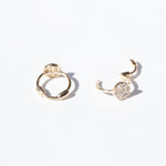 cz earrings - seol-gold