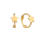 Tiny Star Huggie Earrings