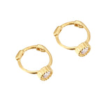 9ct gold - cartilage hoop earring- seolgold
