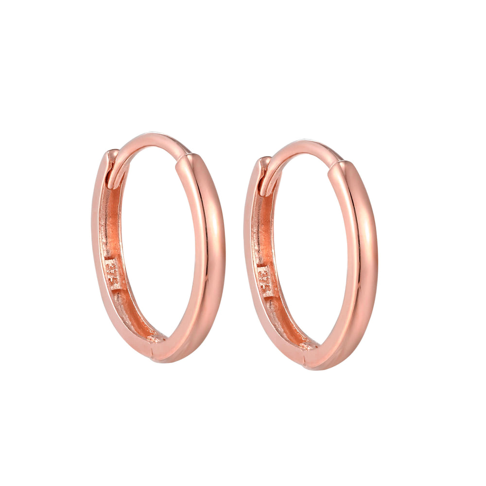 9ct rose gold - cartilage hoop - seolgold