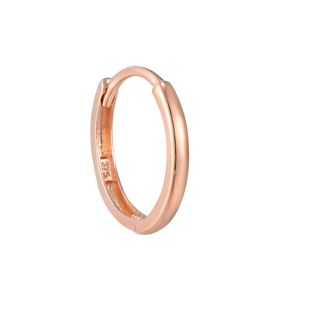 9ct rose gold hoop - seolgold