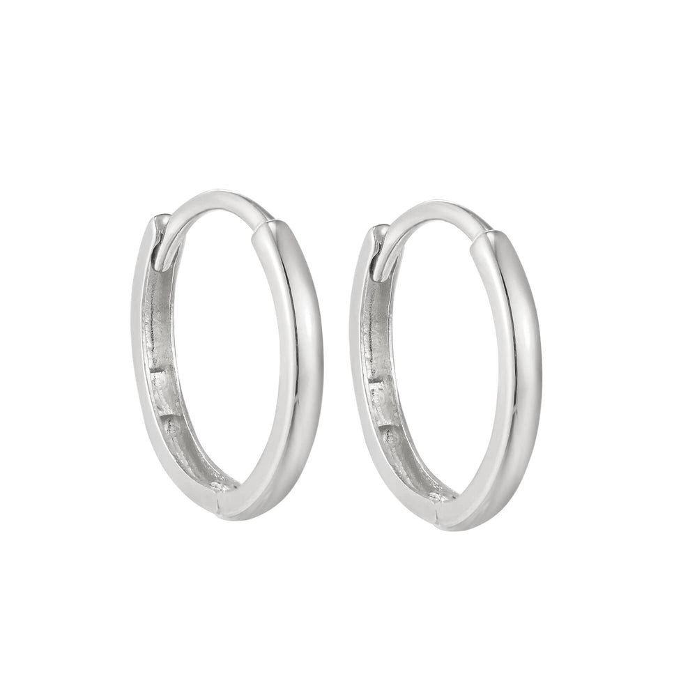 tiny silver hoops - seolgold