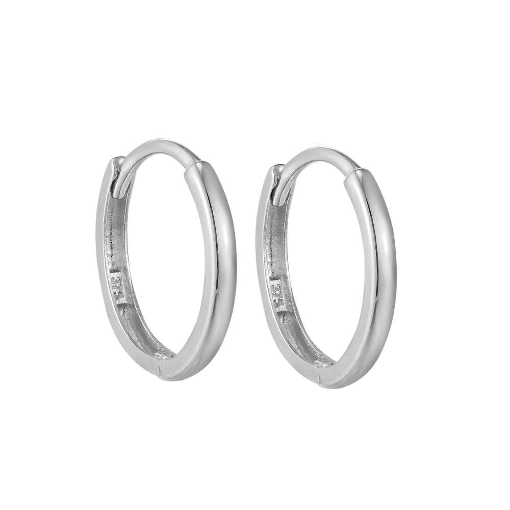 9ct white gold - cartilage hoop - seolgold