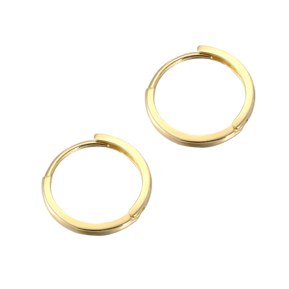 Gold Huggie Earrings - seol-gold