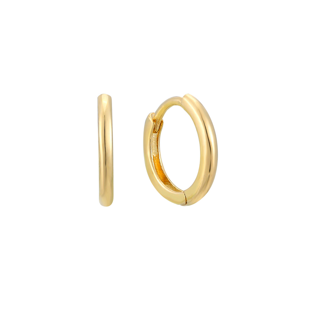 9ct Gold Tiny Huggie Earrings