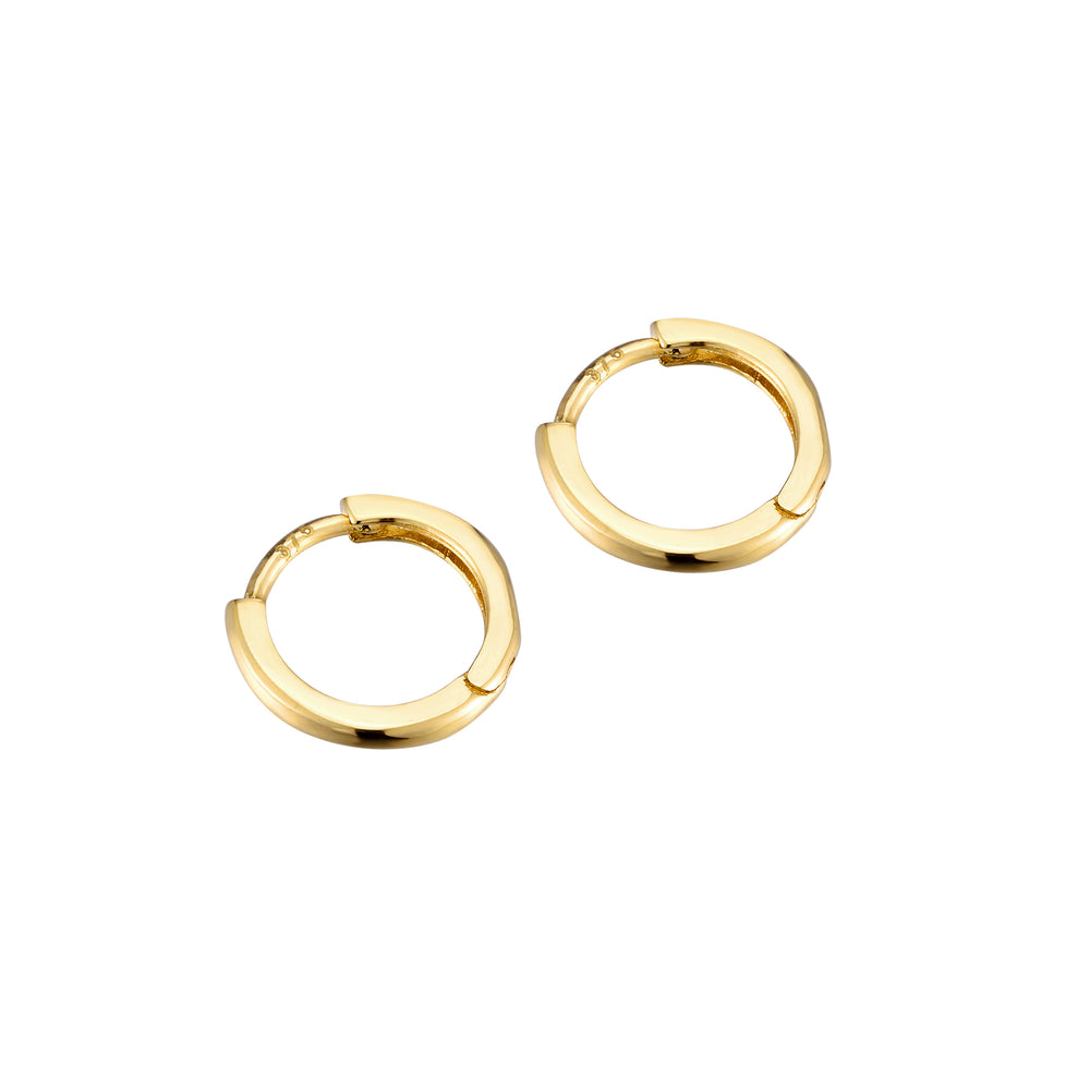 9ct gold tiny cartilage hoops - seolgold