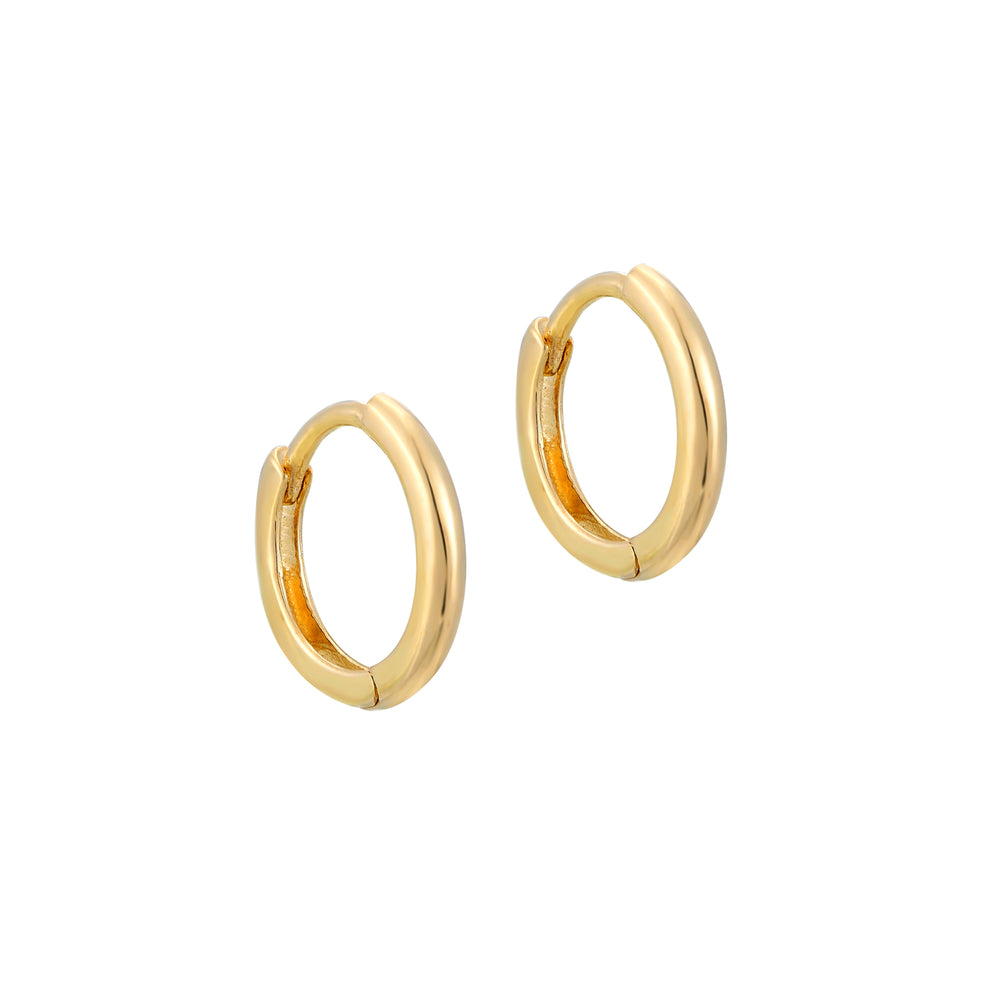 9ct gold tiny hoops - seolgold