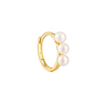 9ct Gold Pearl hoops