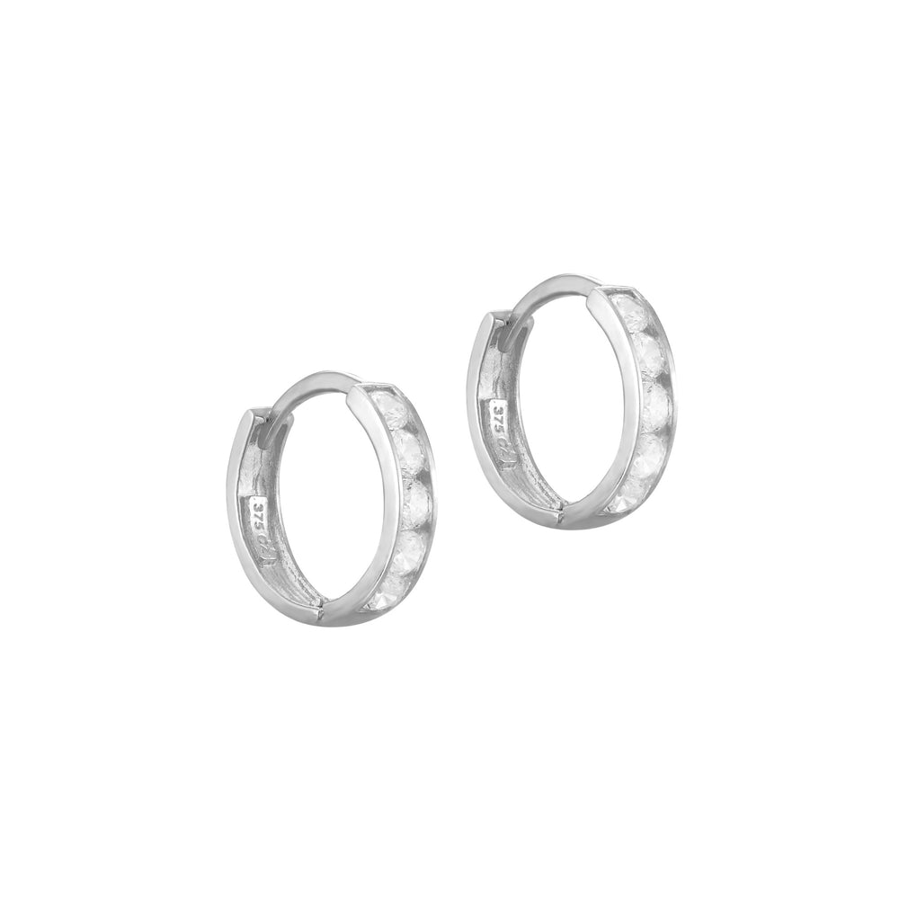Cage CZ Hoops