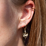 9ct Gold 'Love' Heart Earrings - seol-gold