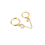 two hoop earring - seol-gold
