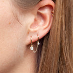double hoop earring - seol-gold