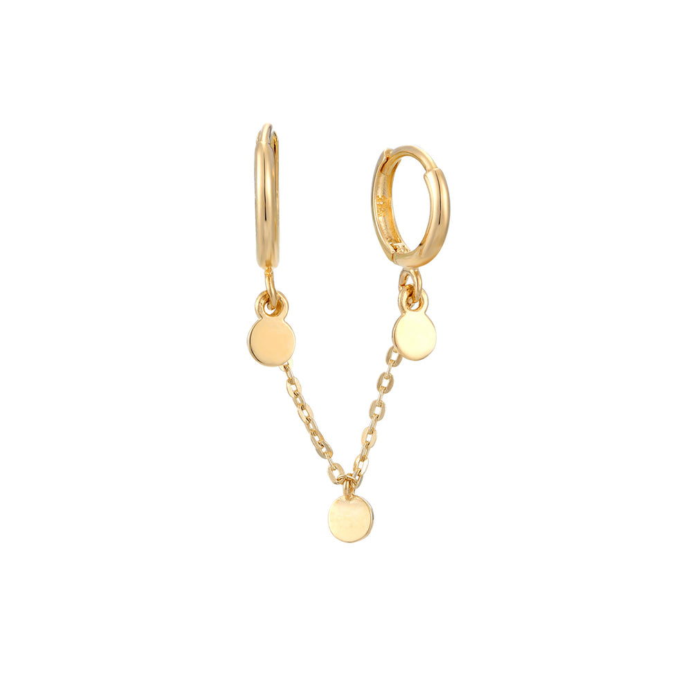 9ct Gold Disc Charm Chain Hoop