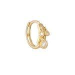 9ct Gold CZ Bezel Charm Hoops